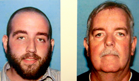 Drew Irby, left, and his father, Tyrone Irby, arrested after 1.6 pounds of high-grade marijuana found at their Chalmette home, as wll as three handguns and numerous pills.