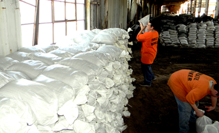Some 50,000 sandbags are stockpiled for use if needed.
