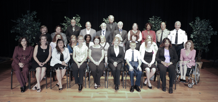 The graduating class of Sheriff's Citizens Police Academy.