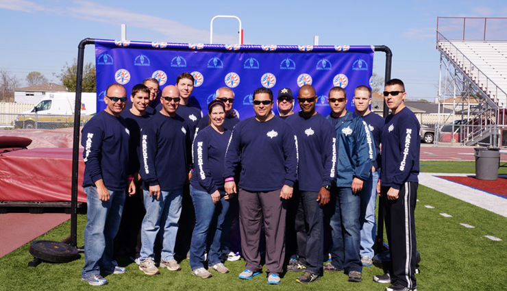 Sheriff's deputies who participated in the Special Olympics held March 14.