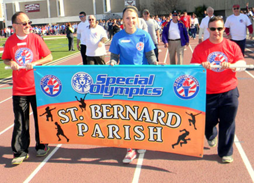 The opening march for the Special Olympics ceremony.