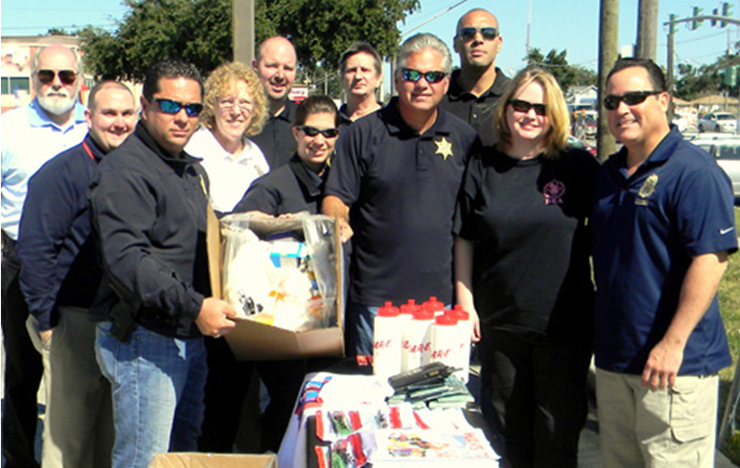 Sheriff James Pohlmann and Maj. Chad Clark are among officers from the Sheriff's Office, the U.S. Drug Administration and officials of the Walgreens pharmacy in Chalmette, holding up a box of medications received from the public during the last Drug Take-Back Day last October, held in the Walgreens parking lot. More than 80 pounds of prescription and other type drugs were collected. The next drug take-back day is from 10 a.m. to 2 p.m. on Saturday, April 26 at the sheriff's sub-station, 5429 Paris Road.