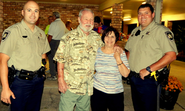 From left, Dep. Sheriff Brad Nuccio, Al Beaubouef, Carol Beaubouef and Dep, Sheriff Bryan Fleetwood Jr. at the Beaubouefs' Night Out event in Meraux.