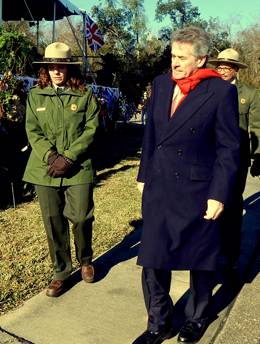 Sir Peter Westmacott, Ambassador to the United States from the United Kingdom,, took part in a wreath-laying during the ceremony.