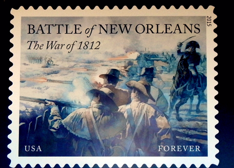 A commemorative stamp of the Battle of New Orleans was unveiled by the Postal Service.