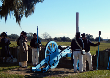 An artillery battery at the ceremony.