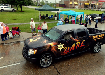A Sheriff's Office D.A.R.E. program car was also part of the parade