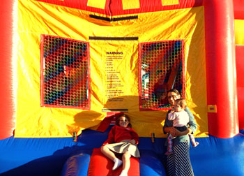 Children outside a bounce house set up at a church in Chalmette during National Night Out Against Crime in October 2014. The annual event is scheduled this year for Tuesday, Oct. 13.