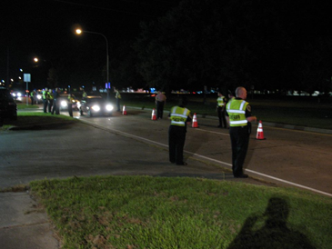 Officers from the St. Bernard and Plaquemines Parish Sheriff's Offices and Louisiana State Police took part in a sobriety check point in Chalmette on Aug. 25.
