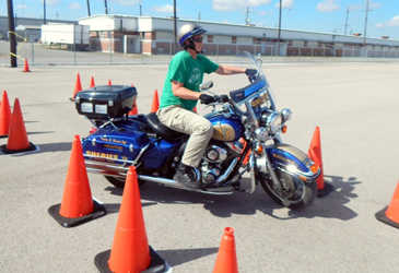 Deputy Dusang rides during an exercise.