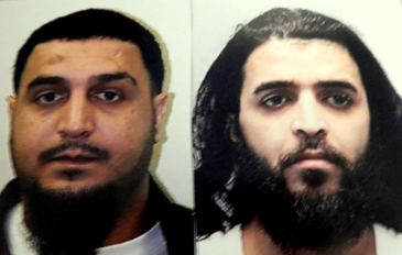 Brothers Ibrahim Abualia, left, and, at right, Mohammed Abualia, both arrested with guns, cocaine and pills.