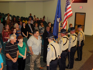 The Sheriff's Office Honor Guard opened the graduating ceremony.